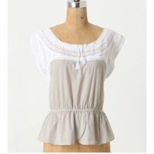Anthropologie HD In Paris Dove Wings Shell Blouse